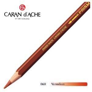 色鉛筆 水彩 カランダッシュ アーティストライン プリズマロ 水溶性色鉛筆 単色 バーミリオン 12個セット 0999-060|nomado1230