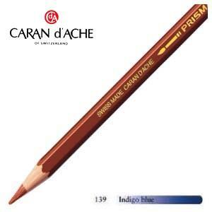 色鉛筆 水彩 カランダッシュ アーティストライン プリズマロ 水溶性色鉛筆 単色 インディゴブルー 3個セット 0999-139|nomado1230