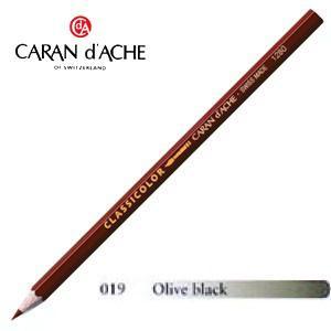 色鉛筆 水彩 カランダッシュ クラシックライン クラシカラー 水溶性色鉛筆 単色 オリーブブラック 12個セット 1281-019|nomado1230