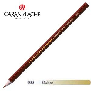 色鉛筆 水彩 カランダッシュ クラシックライン クラシカラー 水溶性色鉛筆 単色 オーカー 12個セット 1281-035|nomado1230