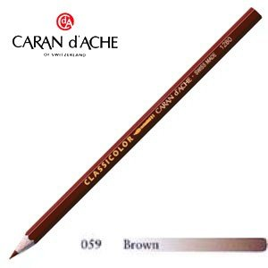 色鉛筆 水彩 カランダッシュ クラシックライン クラシカラー 水溶性色鉛筆 単色 ブラウン 12個セット 1281-059|nomado1230