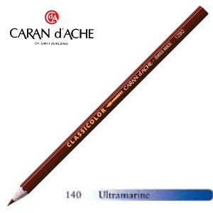 色鉛筆 水彩 カランダッシュ クラシックライン クラシカラー 水溶性色鉛筆 単色 ウルトラマリン 12個セット 1281-140|nomado1230