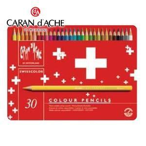 色鉛筆 水彩 カランダッシュ スイスフラッグコレクション スイスカラー 30色 水溶性色鉛筆 1285-730|nomado1230