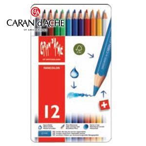 色鉛筆 水彩 セット カランダッシュ ファンカラーライン 水溶性色鉛筆 12色セット 1288-312|nomado1230