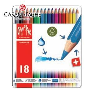 色鉛筆 水彩 セット カランダッシュ ファンカラーライン 水溶性色鉛筆 18色セット 1288-318|nomado1230