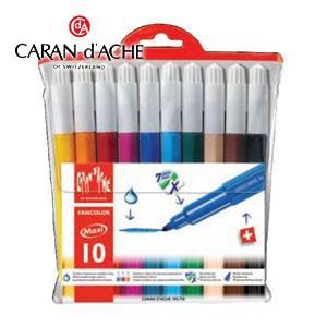 水性ペン セット カランダッシュ ファンカラーライン 水溶性フェルトペン マキシ 10色セット 195-710|nomado1230