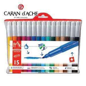 水性ペン セット カランダッシュ ファンカラーライン 水溶性フェルトペン マキシ 15色セット 195-715|nomado1230