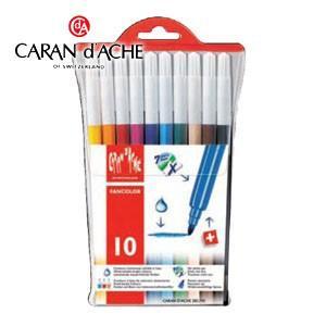 水性ペン セット カランダッシュ ファンカラーライン 水溶性フェルトペン 10色セット 285-710|nomado1230
