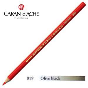 色鉛筆 水彩 カランダッシュ アーティストライン スプラカラーソフト 水溶性色鉛筆 単色 オリーブブラック 3個セット 3888-019|nomado1230