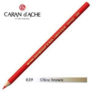 色鉛筆 水彩 カランダッシュ アーティストライン スプラカラーソフト 水溶性色鉛筆 単色 オリーブブラウン 3個セット 3888-039|nomado1230