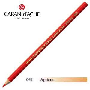 色鉛筆 水彩 カランダッシュ アーティストライン スプラカラーソフト 水溶性色鉛筆 単色 アプリコット 3個セット 3888-041|nomado1230