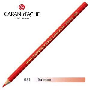 色鉛筆 水彩 カランダッシュ アーティストライン スプラカラーソフト 水溶性色鉛筆 単色 サーモン 3個セット 3888-051|nomado1230