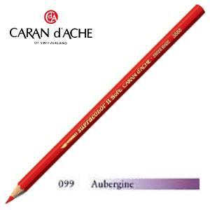 色鉛筆 水彩 カランダッシュ アーティストライン スプラカラーソフト 水溶性色鉛筆 単色 aubergine 3個セット 3888-099|nomado1230