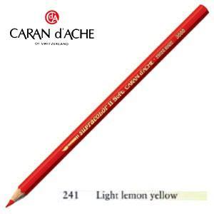 色鉛筆 水彩 カランダッシュ アーティストライン スプラカラーソフト 水溶性色鉛筆 単色 ライトレモンイエロー 3個セット 3888-241 nomado1230