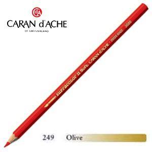 色鉛筆 水彩 カランダッシュ アーティストライン スプラカラーソフト 水溶性色鉛筆 単色 オリーブ 3個セット 3888-249|nomado1230
