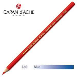 色鉛筆 水彩 カランダッシュ アーティストライン スプラカラーソフト 水溶性色鉛筆 単色 ブルー 3個セット 3888-260|nomado1230