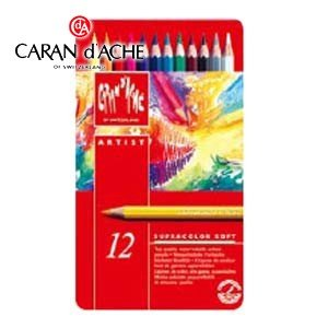 色鉛筆 水彩 カランダッシュ アーティストライン スプラカラーソフト 12色 水溶性色鉛筆 No. 3888312|nomado1230