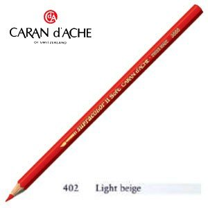 色鉛筆 水彩 カランダッシュ アーティストライン スプラカラーソフト 水溶性色鉛筆 単色 ライトベージュ 3個セット 3888-402|nomado1230