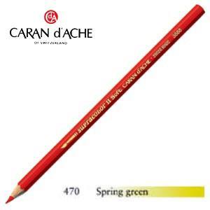 色鉛筆 水彩 カランダッシュ アーティストライン スプラカラーソフト 水溶性色鉛筆 単色 スプリンググリーン 3個セット 3888-470|nomado1230