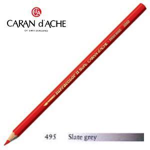 色鉛筆 水彩 カランダッシュ アーティストライン スプラカラーソフト 水溶性色鉛筆 単色 スレートグレイ 3個セット 3888-495|nomado1230
