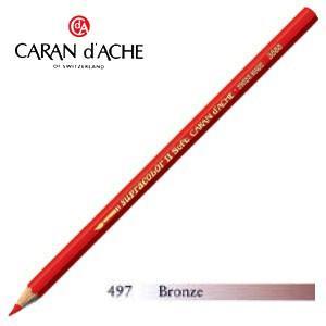 色鉛筆 水彩 カランダッシュ アーティストライン スプラカラーソフト 水溶性色鉛筆 単色 ブロンズ 3個セット 3888-497|nomado1230