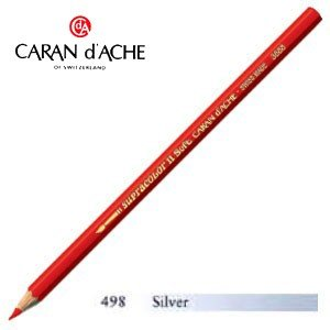 色鉛筆 水彩 カランダッシュ アーティストライン スプラカラーソフト 水溶性色鉛筆 単色 シルバー 3個セット 3888-498|nomado1230