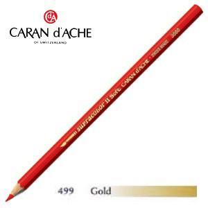 色鉛筆 水彩 カランダッシュ アーティストライン スプラカラーソフト 水溶性色鉛筆 単色 ゴールド 3個セット 3888-499|nomado1230