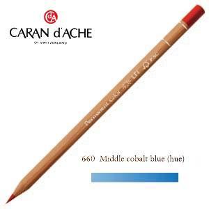 色鉛筆 油性 カランダッシュ プロフェッショナルライン ルミナンス 油性色鉛筆 単色 ミドルコバルトブルー 6個セット 6901-660|nomado1230