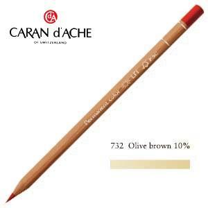色鉛筆 油性 カランダッシュ プロフェッショナルライン ルミナンス 油性色鉛筆 単色 オリーブブラウン 10パーセント 6個セット 6901-732 nomado1230