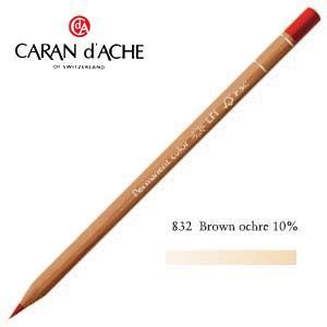 色鉛筆 油性 カランダッシュ プロフェッショナルライン ルミナンス 油性色鉛筆 単色 ブラウンオーカー 10パーセント 6個セット 6901-832 nomado1230