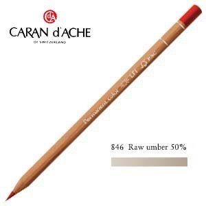 色鉛筆 油性 カランダッシュ プロフェッショナルライン ルミナンス 油性色鉛筆 単色 ローアンバー 50パーセント 6個セット 6901-846|nomado1230