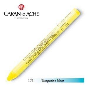 パステル カランダッシュ クラシックライン ネオカラー 1 オイルパステル 単色 ターコイズブルー 10個セット 7000-171|nomado1230
