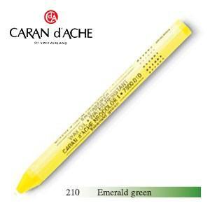 パステル カランダッシュ クラシックライン ネオカラー 1 オイルパステル 単色 エメラルドグリーン 10個セット 7000-210|nomado1230