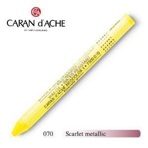 パステル カランダッシュ クラシックライン ネオカラー 1 メタリック オイルパステル 単色 スカーレットメタリック 10個セット 7004-070|nomado1230