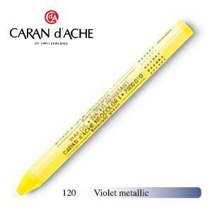 パステル カランダッシュ クラシックライン ネオカラー 1 メタリック オイルパステル 単色 バイオレットメタリック 10個セット 7004-120|nomado1230