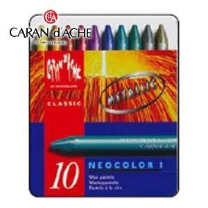 クレヨン カランダッシュ クラシックライン ネオカラー 1 メタリックカラー 10色 油性パステル 7004-310|nomado1230