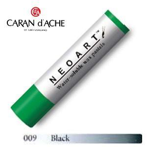 カランダッシュ アーティストライン ネオアート 水溶性ワックスパステル 単色 ブラック 3個セット 7300-009|nomado1230