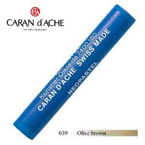 パステル カランダッシュ アーティストライン ネオパステル オイルパステル 単色 オリーブブラウン 9個セット 7400-039 nomado1230