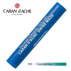 パステル カランダッシュ アーティストライン ネオパステル オイルパステル 単色 greenish blue 9個セット 7400-190 nomado1230