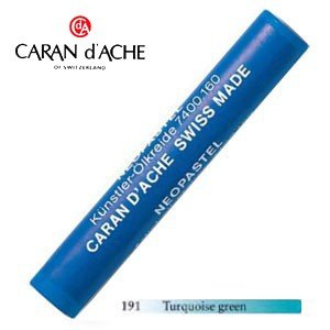 パステル カランダッシュ アーティストライン ネオパステル オイルパステル 単色 ターコイズグリーン 9個セット 7400-191 nomado1230