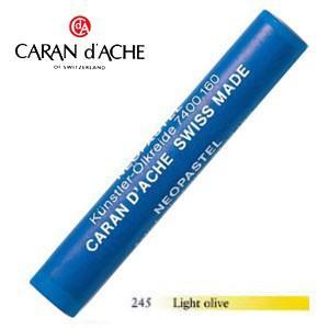 パステル カランダッシュ アーティストライン ネオパステル オイルパステル 単色 ライトオリーブ 9個セット 7400-245 nomado1230