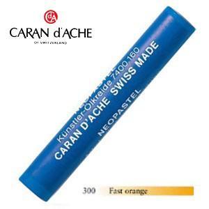 パステル カランダッシュ アーティストライン ネオパステル オイルパステル 単色 ファーストオレンジ 9個セット 7400-300|nomado1230