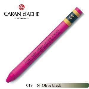 クレヨン カランダッシュ クラシックライン ネオカラー 2 水溶性クレヨン 単色 オリーブブラック 10個セット 7500-019N|nomado1230