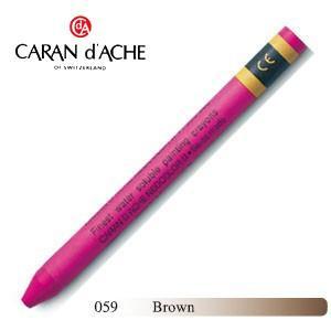 クレヨン カランダッシュ クラシックライン ネオカラー 2 水溶性クレヨン 単色 ブラウン 10個セット 7500-059|nomado1230