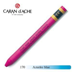 クレヨン カランダッシュ クラシックライン ネオカラー 2 水溶性クレヨン 単色 アズライトブルー 10個セット 7500-170|nomado1230