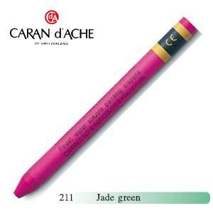 クレヨン カランダッシュ クラシックライン ネオカラー 2 水溶性クレヨン 単色 jade green 10個セット 7500-211|nomado1230