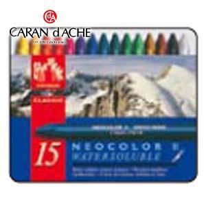 クレヨン カランダッシュ クラシックライン ネオカラー 2 15色 水溶性クレヨン 7500-315|nomado1230
