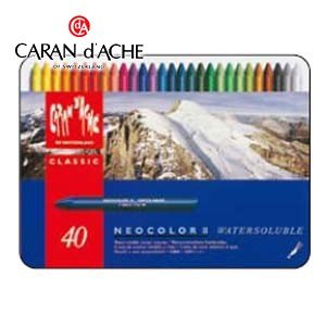 クレヨン カランダッシュ クラシックライン ネオカラー 2 40色 水溶性クレヨン 7500-340|nomado1230