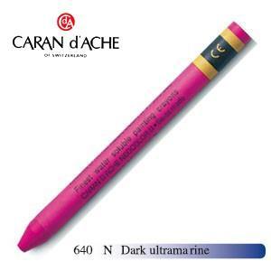 クレヨン カランダッシュ クラシックライン ネオカラー 2 水溶性クレヨン 単色 dark ウルトラマリン 10個セット 7500-640N|nomado1230