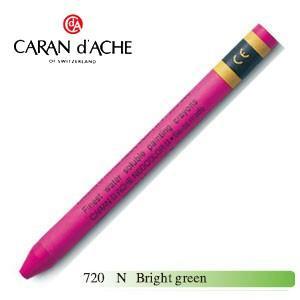 クレヨン カランダッシュ クラシックライン ネオカラー 2 水溶性クレヨン 単色 bright green 10個セット 7500-720N|nomado1230